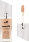 P2 Podkład Make-Up 24/7 city shield matte foundation + concealer