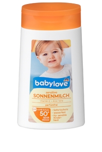 BABYLOVE Mleczko sensitive do opalania LSF 50+